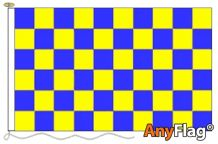 - BLUE AND YELLOW CHECK ANYFLAG RANGE - VARIOUS SIZES (37) (54) (61) (135)
